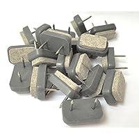 Design61 8 de fieltro para parqué para fijaciones de la pierna de la silla de protectores para proteger el suelo en el piso de prendas de amortiguadores de con dos de las uñas y de fieltro de 30 x 18 mm
