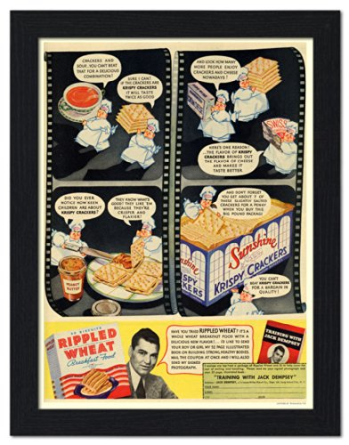 wheat-crackers-advertised-by-boxer-jack-dempsey-framed-print-32x42cm-black