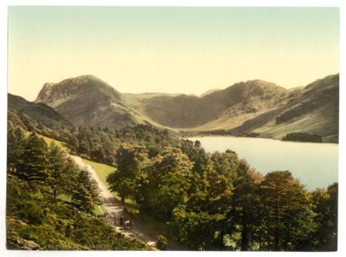 Cumbria, Buttermere & Hasness In The Lake District - English Photochrome - EPC115 Matte Paper A4 Size