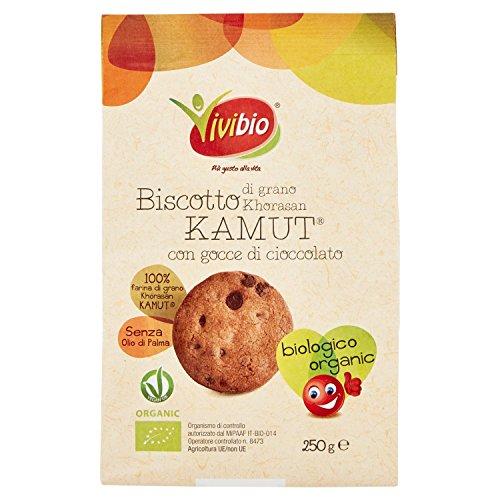 Vivibio Biscotto di Grano Khorasan Kamut con Gocce di Cioccolato - 250 gr