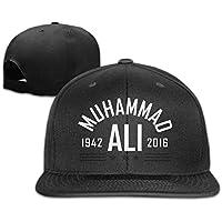 huseki TopSeller Muhammad Ali Adjustable Snapback Flat Béisbol Tiene Cap for Unisex Black