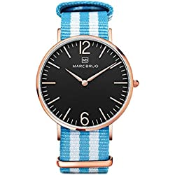 Marc Brüg Men's Minimalist Watch Bali 41 Rosegold Black