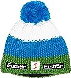Eisbär–Berretto con pompon, Unisex, Star Pompon MÜ SP, Verde/Bugatti/White, Taglia unica