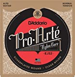 D'Addario EJ52 Saitensatz für Alto-Gitarre, Pro-Arte Alto Guitar Silver/Clear/Normal