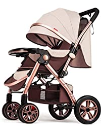 BLWX - El Cochecito Alto del Paisaje se Puede sentar reclinable Ligero y Plegable Paraguas de bebé de Cuatro Ruedas Sistema de Viaje…