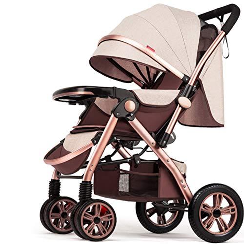 BLWX - Haute Paysage Poussette Peut s'asseoir inclinable léger Pliant bébé Parapluie Quatre Roues bébé léger système de Voyage Voiture Poussette Poussette (Couleur : T)