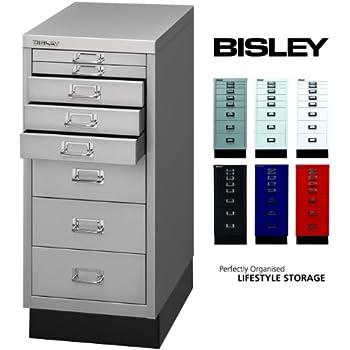 bisley schubladenschrank 29 aus metall schrank mit 8 schubladen und sockel b roschrank din. Black Bedroom Furniture Sets. Home Design Ideas