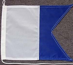 Signalflagge Signalfahne A - Alfa Polyesterwebware, ca. 50 x 60 cm