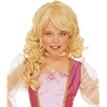 WIDMANN Blonde princess wig for girls (peluca)