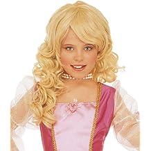 WIDMANN Blonde princess wig for girls (peluca)