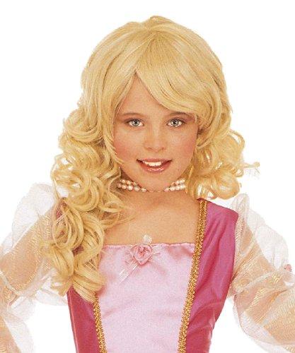 Blonde princess wig for girls (peluca)