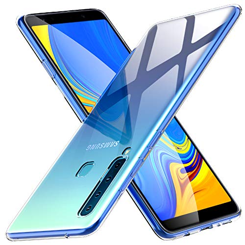 Peakally Cover per Samsung Galaxy A9 2018, Trasparente Morbida TPU Silicone Ultra Sottile Custodia Case per Samsung Galaxy A9 2018 -Trasparente