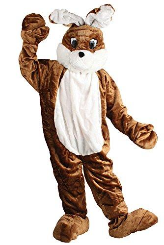 Braun Weiß | mit Bauch | waschbar | Osterhase | Walk akt | Promotion | mit Kopf | Firmen Hasen Kostüm (Mann Im Hasen-kostüm)