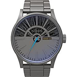 Nixon Unisex Analogue Watch with multicolour Dial Analogue Display and Stainless steel plated anthracite - A356SW2385-00