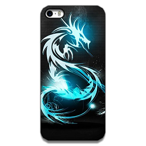 The Racoon Lean printed designer hard back mobile phone case cover for Apple Iphone 5/5s. (Blue Drago)  available at amazon for Rs.99