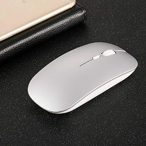 Ruidi Laden Sie Die Wireless-Maus. Ultraleise Computer, G Wireless-Maus Stummgeschaltet. 110 * 57 * 21mm/D2, 4G Wireless-Space Silver (Space Mouse Pro Wireless)
