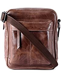 Gauge Crunch Leather Sling Bag Messenger Bag Portable Bag