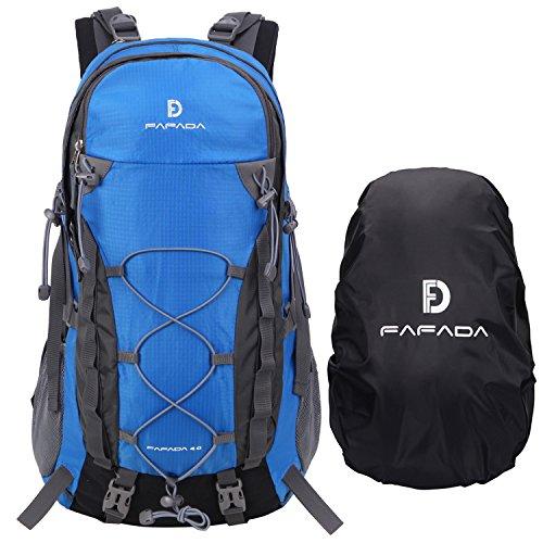 Fafada 40l impermeabile zaini da escursionismo zaino di campeggio viaggi hiking trekking camping backpack blu
