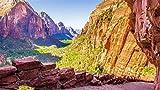 ClassicJP Puzzle da Pezzi per Adulti Fai-da-Te Zion National Park Utah Mountains Puzzle per Regalo di Natale Amico di Bambini 500 Piece