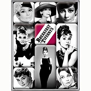 Nostalgic-Art 83040 Celebrities - Audrey - Magnet-Set (9-teilig)