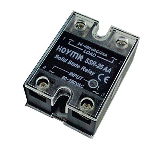 Hoymk Ssr-25aa 25a 80-280v Ac Ac Ssr 25aa Single Phase Solid State Relais zu 24-480v (480 Phase Single)