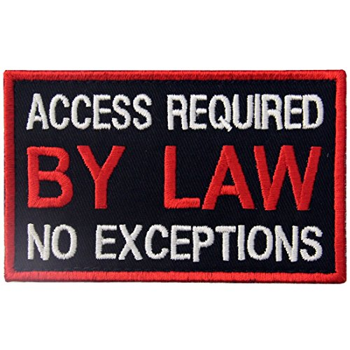 EmbTao Service Dog Access Required by Law No Exceptions Bestickter Aufnäher mit Klettverschluss