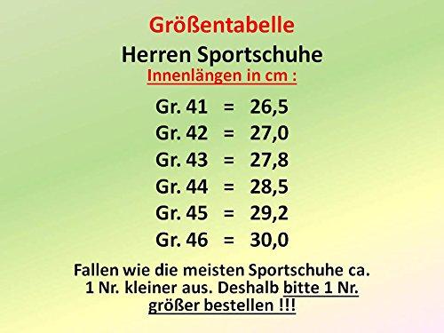 GIBRA® Herren Sportschuhe, sehr leicht und bequem, grün/gelb, Gr. 41-46 Grün/Gelb