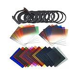 #8: HITSAN P Series 24 Color Gradient Square Panchromatic Filters Set