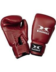 Hammer Fit - Guantes de boxeo rojo rojo Talla:10 OZ