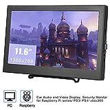 Portable Gaming 11.6 Zoll HD Display HDMI Monitor, 1366 x 768 LCD IPS Bildschirm USB Betrieb für PS3 PS4 Xbox Ns xbox360 PC MAC Raspberry Pi mit Eingebautem Dual Lautsprecher(EU-Stecker)