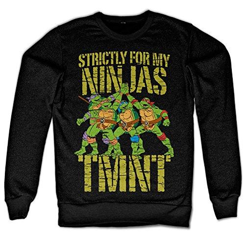 TMNT - Strictly For My Ninjas Sweatshirt (Schwarz), -