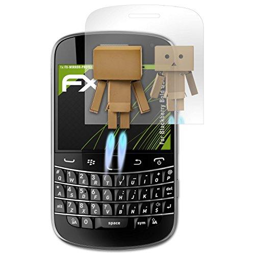 atFolix Displayfolie kompatibel mit BlackBerry Bold 9900 Spiegelfolie, Spiegeleffekt FX Schutzfolie Blackberry Bold Screen Protector