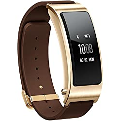 Huawei TalkBand B3 Business Smart Bracelet Wireless Activity Tracking Leather Wristband + Bluetooth Earpiece Mocha Brown