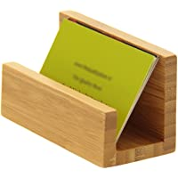 Porte-cartes de visite de bureau Bois bambou naturel.