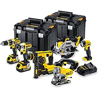 DeWalt DCK699M3T 18V 6 Piece Cordless Kit (3 x 4Ah Batteries) 2 x Tstak Kitboxes, 240 V, Multi, LARGE