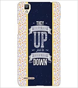 PrintDhaba Quote D-6060 Back Case Cover for OPPO F1 (Multi-Coloured)