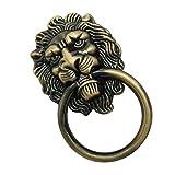 Homyl Löwenkopf Antikmöbel Griff Möbelgriff Möbel Beschlag Ring - Bronze_L