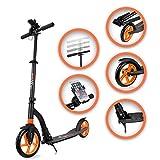 SAMAX Tretroller Scooter Cityroller Kickscooter Big Wheel Klappbar mit Ständer
