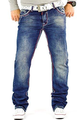 R-Neal - Jeans - Relaxed - Homme Bleu - Bleu