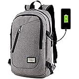 "DailyStar - Mochila para portátil de 15,6"", con puerto de carga USB, antirrobo, ligera, unisex gris gris L"