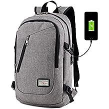 Mochila para portátil de negocios por dailystar, 15.6inch Colegio Mochilas con USB puerto de carga, antirrobo bolsa de viaje ligero para hombres y mujeres gris gris
