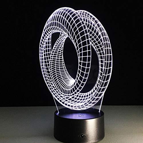 Inns Sale Magical Optical Illusion 3D Stimmungslampe Usb Tischdekor Lamprative Lampe Roller Spiral Birnen Illusion -