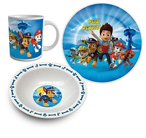 Nickelodeon Paw Patrol Frühstücks-Set Geschirr-Set 3-tlg.