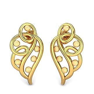 Candere By Kalyan Jewellers 22k (916) Yellow Gold Arden Stud Earrings