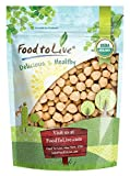 Food to Live Zertifizierte Bio Kichererbsen (getrocknete Kichererbsen, Non-GMO, Koscher, roh, sprießbar, Bulk) (1 Pfund)