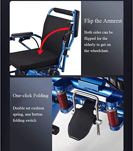 51E7LSKceuL - Silla de ruedas eléctrica, nuevo control remoto plegable ligero y ligero Silla de ruedas eléctrica motorizada, Scooter de silla de ruedas eléctrica motorizada ligera plegable y de viaje 2019.