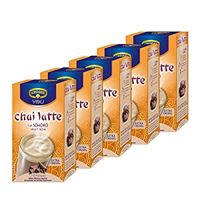 Krüger Chai Latte Sweet India, Schoko, mildes Milchtee Getränk, 5er Pack, 5 x 10 Portionsbeutel