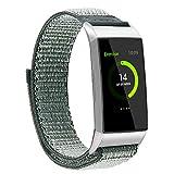 Darringls_Correa para reloj,Para Fitbit Charge 3 Pulsera de Repuesto de Nylon Respirable Banda Deportiva con Cierre Ajustable