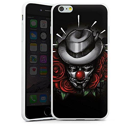 Apple iPhone X Silikon Hülle Case Schutzhülle Joker - The Joker Blumen Hut Silikon Case weiß