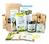 KULAU 'Vitamin Sea' Geschenkset - essbare Bio-Algen-Produkte – Algenbouillon, Nori-Snack, Algensalz & Wakame / in wiederverwendbarer Holzkiste